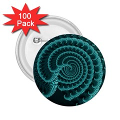Fractals Form Pattern Abstract 2 25  Buttons (100 Pack)