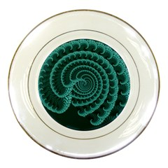 Fractals Form Pattern Abstract Porcelain Plates