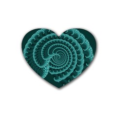 Fractals Form Pattern Abstract Rubber Coaster (heart)