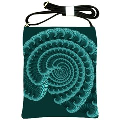 Fractals Form Pattern Abstract Shoulder Sling Bags by BangZart