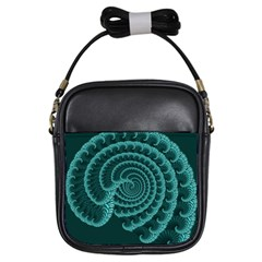 Fractals Form Pattern Abstract Girls Sling Bags by BangZart