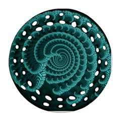 Fractals Form Pattern Abstract Ornament (round Filigree)