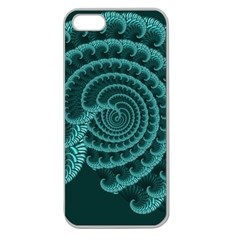 Fractals Form Pattern Abstract Apple Seamless Iphone 5 Case (clear)