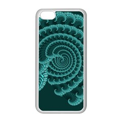 Fractals Form Pattern Abstract Apple Iphone 5c Seamless Case (white)