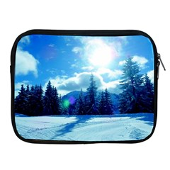 Ski Holidays Landscape Blue Apple Ipad 2/3/4 Zipper Cases