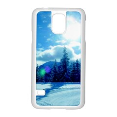 Ski Holidays Landscape Blue Samsung Galaxy S5 Case (white)