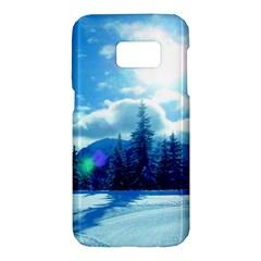 Ski Holidays Landscape Blue Samsung Galaxy S7 Hardshell Case