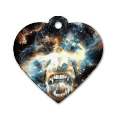 Universe Vampire Star Outer Space Dog Tag Heart (one Side)