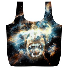 Universe Vampire Star Outer Space Full Print Recycle Bags (l)