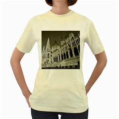Architecture Parliament Landmark Women s Yellow T Shirt by BangZart