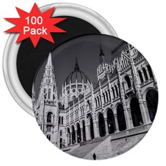 Architecture Parliament Landmark 3  Magnets (100 Pack) by BangZart