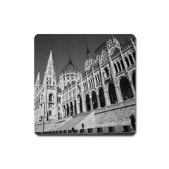 Architecture Parliament Landmark Square Magnet by BangZart