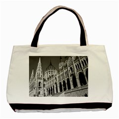Architecture Parliament Landmark Basic Tote Bag by BangZart