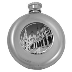 Architecture Parliament Landmark Round Hip Flask (5 Oz) by BangZart