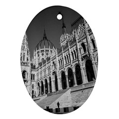 Architecture Parliament Landmark Oval Ornament (two Sides) by BangZart