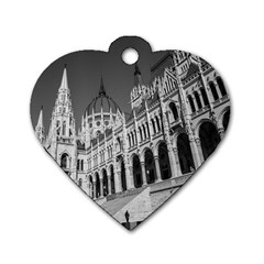 Architecture Parliament Landmark Dog Tag Heart (two Sides) by BangZart
