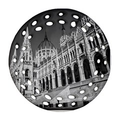 Architecture Parliament Landmark Round Filigree Ornament (two Sides) by BangZart