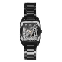 Architecture Parliament Landmark Stainless Steel Barrel Watch by BangZart