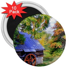 Landscape Blue Shed Scenery Wood 3  Magnets (10 Pack)