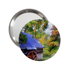 Landscape Blue Shed Scenery Wood 2 25  Handbag Mirrors by BangZart