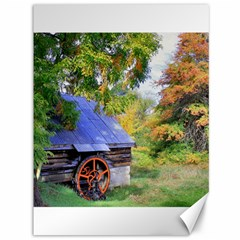Landscape Blue Shed Scenery Wood Canvas 36  X 48