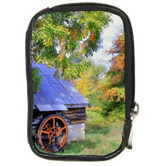 Landscape Blue Shed Scenery Wood Compact Camera Cases