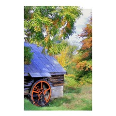 Landscape Blue Shed Scenery Wood Shower Curtain 48  X 72  (small)