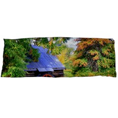 Landscape Blue Shed Scenery Wood Body Pillow Case Dakimakura (two Sides) by BangZart
