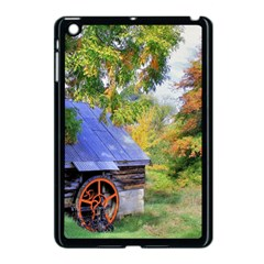 Landscape Blue Shed Scenery Wood Apple Ipad Mini Case (black)
