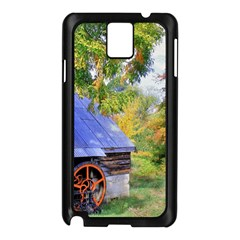 Landscape Blue Shed Scenery Wood Samsung Galaxy Note 3 N9005 Case (black)