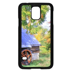 Landscape Blue Shed Scenery Wood Samsung Galaxy S5 Case (black)