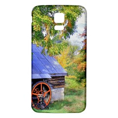Landscape Blue Shed Scenery Wood Samsung Galaxy S5 Back Case (white)