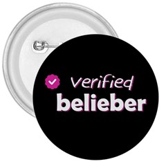 Verified Belieber 3  Buttons by Valentinaart
