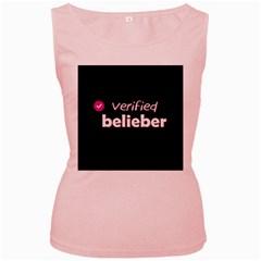 Verified Belieber Women s Pink Tank Top by Valentinaart