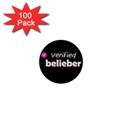 Verified Belieber 1  Mini Buttons (100 Pack)  by Valentinaart