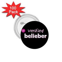 Verified Belieber 1 75  Buttons (100 Pack)  by Valentinaart