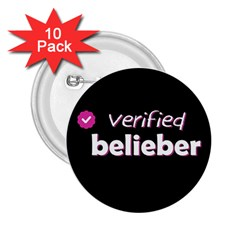 Verified Belieber 2 25  Buttons (10 Pack)  by Valentinaart