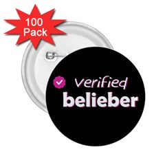 Verified Belieber 2 25  Buttons (100 Pack)  by Valentinaart