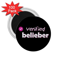 Verified Belieber 2 25  Magnets (100 Pack)  by Valentinaart
