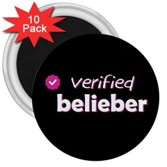 Verified Belieber 3  Magnets (10 Pack)  by Valentinaart