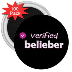 Verified Belieber 3  Magnets (100 Pack) by Valentinaart