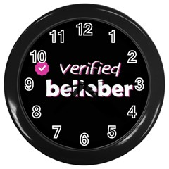 Verified Belieber Wall Clocks (black) by Valentinaart