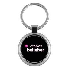 Verified Belieber Key Chains (round)  by Valentinaart