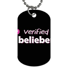 Verified Belieber Dog Tag (one Side) by Valentinaart