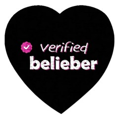 Verified Belieber Jigsaw Puzzle (heart) by Valentinaart