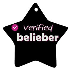 Verified Belieber Star Ornament (two Sides) by Valentinaart