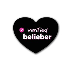 Verified Belieber Heart Coaster (4 Pack)  by Valentinaart