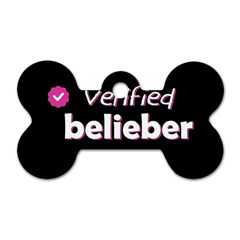 Verified Belieber Dog Tag Bone (two Sides) by Valentinaart
