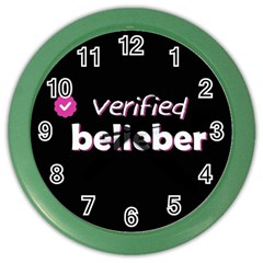 Verified Belieber Color Wall Clocks by Valentinaart