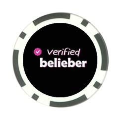 Verified Belieber Poker Chip Card Guard by Valentinaart